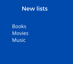 lists of new items