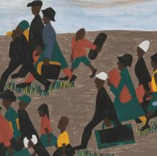 painting of African American migrants