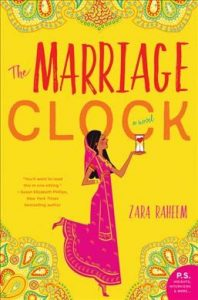 book cover for the marriage clock