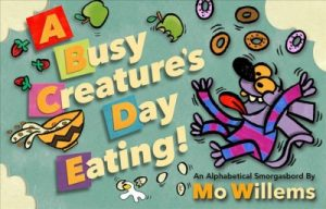 book cover a busy creature' day eating