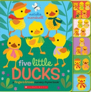 book cover for five little ducks