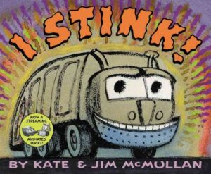book cover for i stink