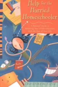 book cover for Help for the Harried Homeschooler