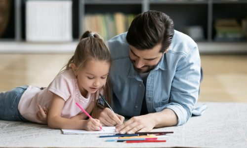 dad and child coloring