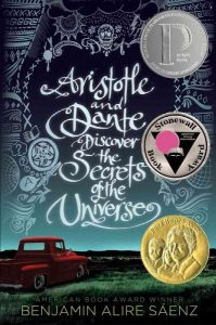 book cover for aristotle and dante discover the secrets of the universe
