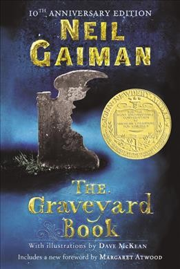 book cover for The Graveyard Book