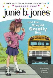 book cover for Junie B. Jones & the Stupid Smelly Bus