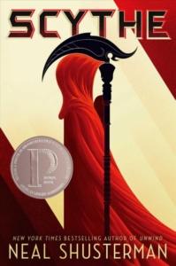 book cover for scythe