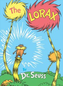 book cover for The Lorax