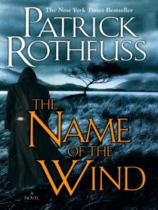 book cover for the name of the wind