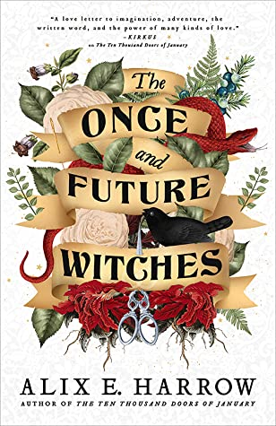 book cover for The Once and Future Witches