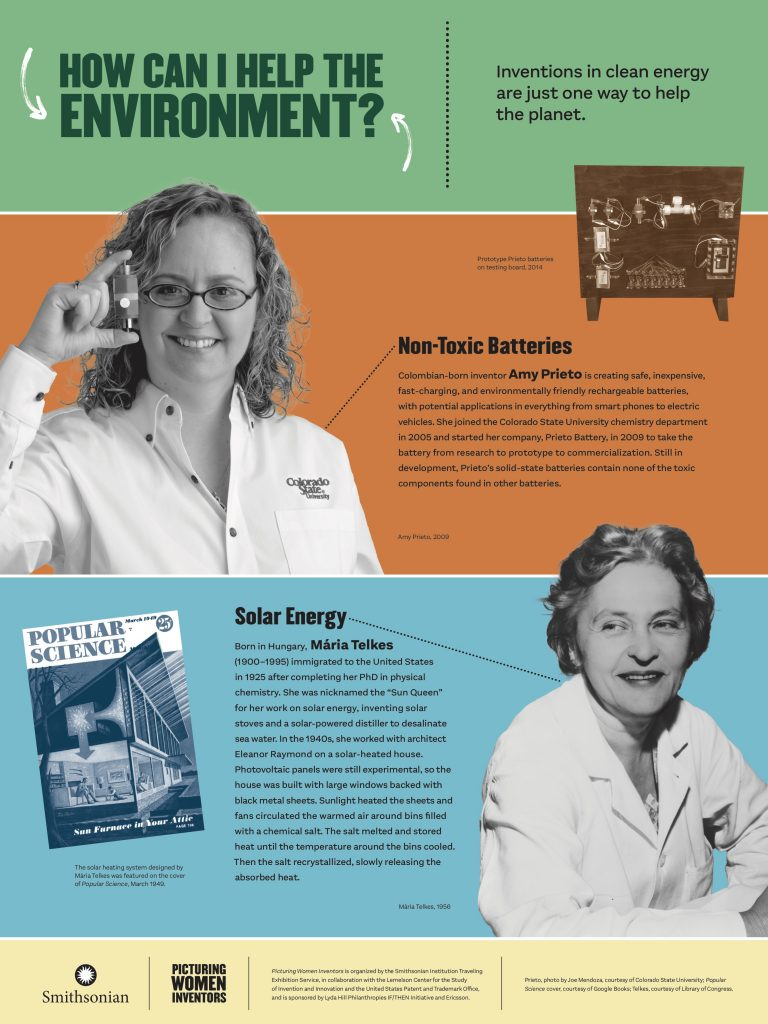 Picturing Women Inventors: How Can I Help the Environment