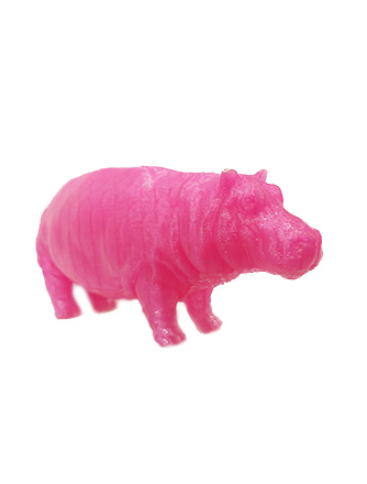 image of a 3d printed hippo