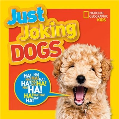 """Book Cover for """"Just Joking Dogs and the link to it in the library catalog."""